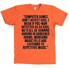 Computer Games Don't Affect Kids T Shirt Magic Pills Funny Quote Rave Tee NEW