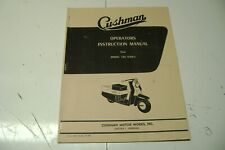 Cushman Scooter Operators Manual For The 720 Series
