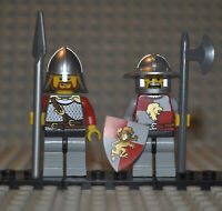 Lego Kingdoms Figuren Lion Knight cas450 cas498 aus Sets 7947 7188