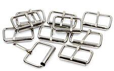 10x Rollschnallen-Gurtschnallen 25mm, Stahl vernickelt