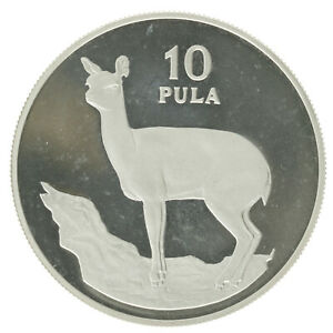 Botswana - Silver 10 Pula Coin - 'Klipspringer' - 1978 - Proof