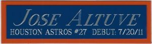 JOSE ALTUVE HOUSTON ASTROS NAMEPLATE FOR YOUR AUTOGRAPHED Signed BASEBALL JERSEY