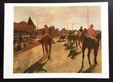 "1951 Vintage DEGAS /""THE FALSE START/"" HORSE RACING COLOR Art Print Lithograph"