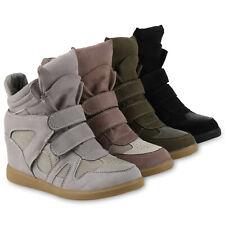 Damen Sneakers Sneaker-Wedges Keilabsatz Freizeit 814272 Schuhe
