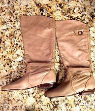 Dolce Vita Women Beige Mocha Knee High Boots Heels Size 9