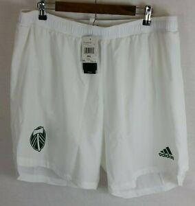 Size 2XL - Adidas Aeroready MLS Shorts Portland Timbers White EH8658