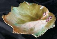 Vintage Chubu China Occupied Japan Painted 3D Leaf Trinket Dish