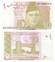 Pakistan 10 Rupees 2015 P-45j Banknotes UNC