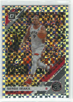 2019-20 Panini Optic Checkerboard Prizm #29 Serge Ibaka Toronto Raptors SSP NBA