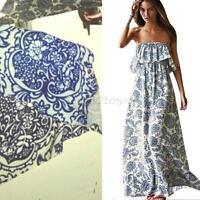 Sexy Women Summer Boho Long Maxi Evening Party Dress Floral Beach Dress S/M/L/XL
