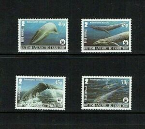 British Antarctic Territory: 2003 Endangered Species; Blue Whale,  MNH
