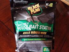 1 Black Flag Refillable Mouse Bait Station w/ 8-.5 oz. Bait Blocks Free Shipping