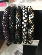 5 SET Nepal Rolls Glass Bead Bracelet crochet handmade bead bangle Exact Set