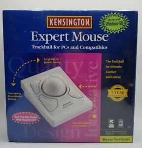 New Vintage Kensington Trackball Expert Mouse - Model # 64215 Windows 98