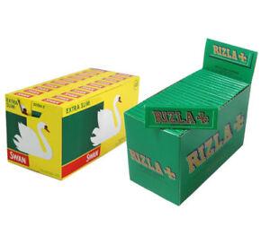 Box Rizla Green with Box Swan Extra Slim Filters