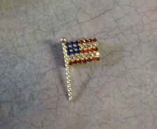 American Flag Pin Gold Vintage1 3/8 By 3/4""