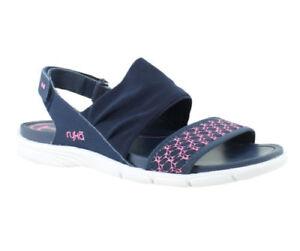 Ryka Women's Navy Pink Rodanthe Sport Sandal Shoes Size 9.5 M EUC