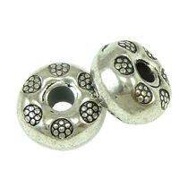 30 Metallspacer Metallperlen Zwischenperlen  Spacer Perlen Silber DIY 9mm F25