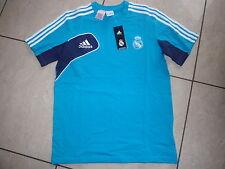 Adidas neu T-Shirt Real Madrid Größe176 blau Wunschflock möglich