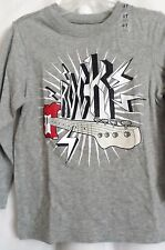 BOYS 4T WICKED GRAY ROCK GUITAR LIGHTNING BOLT SHIRT NWT ~ THE CHILDREN'S PLACE