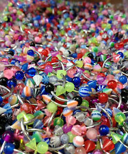 50ct Wholesale Lot of Eyebrow Rings Body Jewelry Glitter, Glow, Striped, Marble+