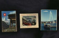 SWITZERLAND * lot of three souvenir folders * Geneva * Mount Pilatus * photos