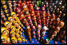 248061 Display Of Hand painted Russian Nesting Dolls A4 Photo Print