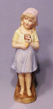 Antique Bisque Girl Eating Slice of Cake Figurine