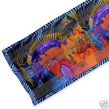 Laurel Burch 100% Silk Oblong Wild Horses Of Fire Brights Silk Scarf NWT