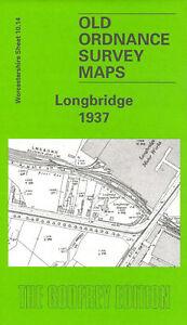 OLD ORDNANCE SURVEY MAP LONGBRIDGE 1937
