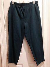 NEW Denim & Co Original Waist Stretch Petite 1X Pant Side Pocket Dark Teal