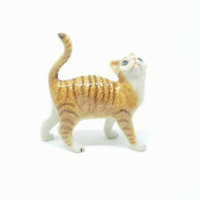 Miniature Ceramic Cat figurine, Ginger Tabby with White Approx 6.5cm High
