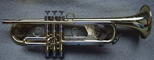 Professional heavy duty soprano Bb Trumpet gold lacquer w/case by Easter music
