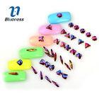 Blueness 10Pcs New 3D Glitter Glass Rhinestone Nail Art DIY Bow Flower Decora