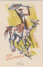 "Ex libris ""Don Quixote"" exlibris by VODRAZKA JAROSLAV (1894-1984)cze"
