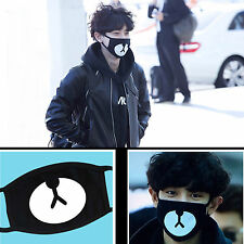 EXO Chanyeol Chan yeol Same Style Lucky Bear Black Mouth Mask Kpop