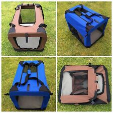 Portable Foldable Pet Soft Crate Portable Dog Cat Carrier Travel Cage Kennel