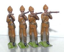 BM81 Britains military lead 4 pcs Gloucestershire Regt from set 119 1916 version