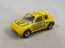 Matchbox Peugeot 205 Turbo 16 Rally Rallye 1:55 gelb