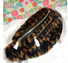 🌸NWT Michael Kors Mott Belt Bag Medium Logo Fur waist bag fanny pack crossbody