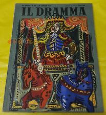 IL DRAMMA 1950 n. 113 - Copertina Emanuele Luzzati  - Opere: vedi inserzione