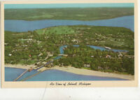 Air View Of Leland Michigan USA Vintage Postcard US023