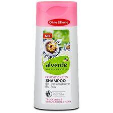 Shampooing Hydratant Alverde Bio Vegan Fleur de Passiflore cheveux secs stressés
