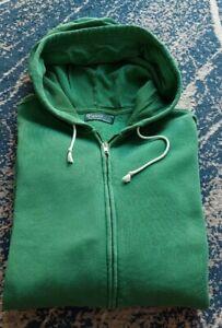 Polo Ralph Lauren XL P2P70cm Full Zip Mens Hoodie Sweatshirt Green