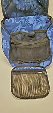 LL Bean Traveler Personal Organizer Toiletry Bag Small Blue Flowers