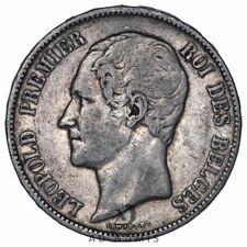 5 francs 1865 Léopold Premier Belgique - Argent
