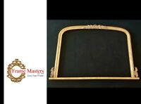 "35 4/16"" x 49 3/4"" Carved Wooden Mirror Mantle Frame"