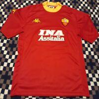 Vintage 2000 Kappa AS Roma Soccer Jersey Football Shirt Men's XL (Tight Fit) M