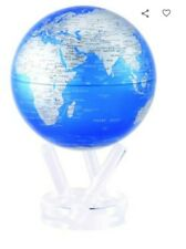 "MOVA Globe 6 inch Cobolt Blue and Silver Solar Powered 6"" Globe 