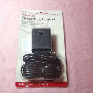 Telephone Recording Control * Cord * Radioshack 43-228A * Record Landline Calls